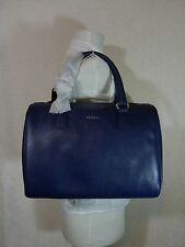 NWT FURLA Ink Blue Saffiano Leather D-light Satchel Bag $248 - Made in Italy