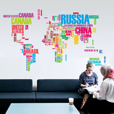 DIY Removable World Map 3D Wall Sticker Vinyl Art Decal Mural Room Wallpaper
