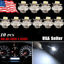 10 X White T5 B8.4D 5050 1SMD LED For BMW E32 E34 E36 Dash Gauge Instrument LED