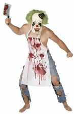 The Butcher Killer Clown Horror Halloween Fancy Dress Costume Size M-L P8659