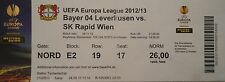 TICKET UEFA EL 2012/13 Bayer Leverkusen - SK Rapid Wien