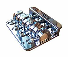 Babicz Full Contact Hardware FCH4CH 4-String 5-Hole Bass Bridge - CHROME