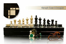 Great OLYMPIC 35 DRAUGHTS Wooden Chess Set with Checkers