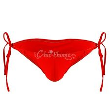 Sexy Men Smooth Lingerie Bikini Bandage Underwear Underpant Fastening String Red