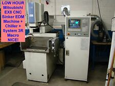LOW HOUR Mitsubishi EX8 CNC Sinker EDM Machine + Chiller + System 3R Macro NICE!