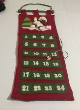Snowman Advent Cloth Felt Calender Wall Hanging
