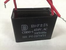 CEILING FAN CAPACITOR CBB61 12uf 2 WIRE 450V A380