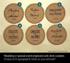 Wedding, Birthday or Special Event personalised engraved drink coasters (Qty 60)
