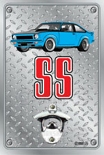 Pop A Top Wall Mount Bottle Opener Metal Sign HOLDEN LJ GTR XU1 Light Blue