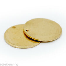 50pcs 20mm Circle Stamping Blanks Charms Unplated Brass Metal 10015100