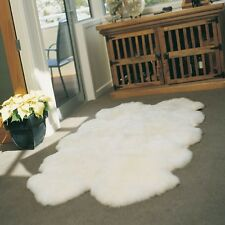 NEW LARGE 100%Sheepskin Rug - Ivory - Genuine Real Australian - 6' X 4'