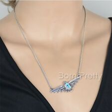 1Pc Creative Silver Eagle Pattern Pendant Chain Link Necklace Jewelery