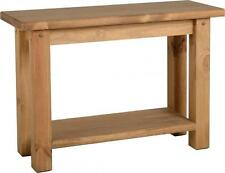 Tortilla Console Table in Distressed Waxed Pine