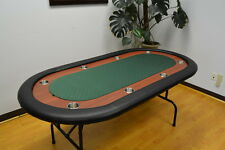 "8 Players 72"" Texas Holdem Poker Table Folding Legs"