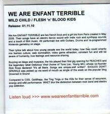 (BT379) We Are Enfant Terrible, Wild Child/Flesh 'n' Blood Kids (Single) - DJ CD