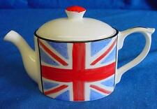 EMMA BAILEY UNION JACK FLAG MINI TEAPOT - ENGLISH MADE STAFFORDSHIRE BONE CHINA