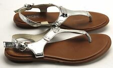 Women's MICHAEL KORS Silver Leather Casual Sandals Size 6
