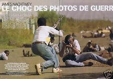 Coupure de presse Clipping 2002 James Nachtwey  (6 pages)