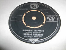 "SERGIO FRANCHI "" MIDNIGHT IN PARIS / APPASIONADA "" 7"" SINGLE EXCELLENT 1962"