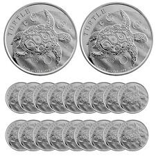 2016 1 oz Silver New Zealand $2 Niue Hawksbill Turtle Coin (BU, Lot of 20)