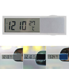 Auto Car 2 in 1 Digital Backlight LCD Clock Thermometer Monitor with Suction Cup