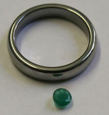 NATURAL LOOSE EMERALD HAND CUT GEMSTONE 4MM FACETED ROUND 0.35CT GEM EM30
