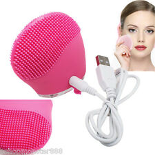 Electric Face Wash Machine Soft Silicone Brush Vibration Recharging Super Tool