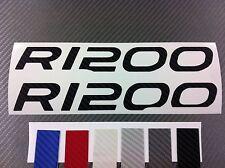 2 Adesivi Carbonio Serbatoio Stickers Moto BMW R 1200 gs in 6 colori
