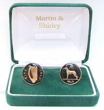 1960 Ireland Gemelos de viejo irlandés Seis Peniques Monedas de Oro Negro