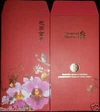 SALES!  YEAR 2015 RED PACKET ANG POW from STANDARD CHARTERED BANK - 2 pieces
