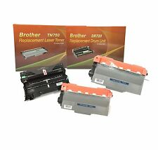 2 Brother TN750 Toner Cartridge + 1 Brother DR720 Drum MFC 8910 8950 Compatible