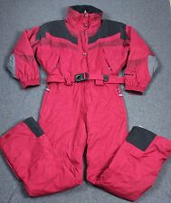 Nordica Vertech One Piece Snow Ski Snowboard Suit Onesie Red Womens 12
