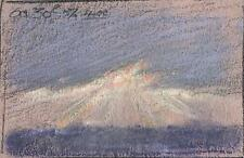 SKY & LANDSCAPE IMPRESSIONIST Pastel Drawing MARCUS ADAMS 1957