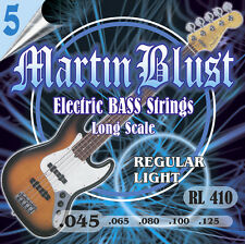 Martin Blust E-Bass Saiten RL410-5 Regular Light - 5-Saiter - (.045 - .125)