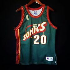 100% Authentic Gary Payton Sonics NBA @50th Away Champion Jersey Size 44 L M