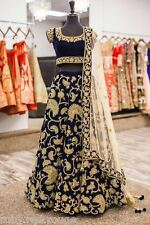 Actual pics listed-indian élégant Bleu Fête Bollywood Lehenga lehnga Lengha