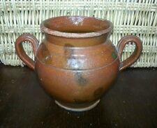 Pot à oreilles en terre cuite poterie Auvergne H 14,5 cm art populaire