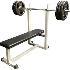 MUSCLE MOTION FLAT BENCH PRESS FOR HOME GYM, STRONGEST OF ITS KIND ON THE MARKET