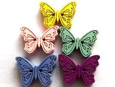 30 diseños mezclados mariposa grande 25mm 2 orificios botones madera.
