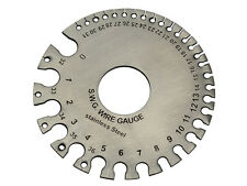 Stainless Steel SWG Wire Gauge Measure Wire Thickness & Sheet Steel SWG & MM
