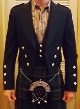 Prince Charlie Formal Jacket and Hunter Green Waist Coat Made In Scotland