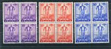SWITZERLAND 1936 WELFARE PRO PATRIA MNH Set BLOCKS x4 (12 stamps)