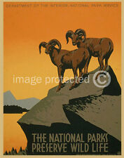 Preserve Wildlife National Park Wpa Art Vintage Poster 18x24