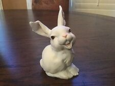 Vintage AK Kaiser W. Germany Bisque Laughing Smiling Rabbit Bunny Figurine