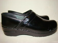 Dansko Professional Black Patent Leather Nursing Clogs Women's Size 38 8.5 9