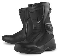 Icon Reign Waterproof Women's Boots Black Size 6.5 3403-0288 Motorcycle Boot