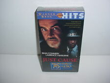 Just Cause VHS Video Tape Movie New Sean Connery Laurence Fishburne