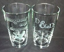 Dungeons And Dragons Etched Glasses16oz RPG,Roleplaying, Online,D&D