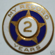 "WOW Vintage ""My Record"" Safe Driver? 2 Years Gold Star Lapel Pin Sales Award?"