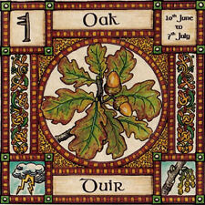 OAK TREE GREETING CARD 10th June - 7th July CELTIC PAGAN Birthday WICCAN OGHAM